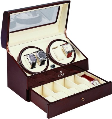 TimeTutelary Quad Automatic 2 Watch Winder(Multicolor)