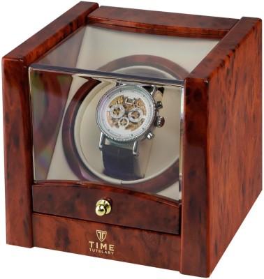 Time Tutelary Watch Cases Automatic 1 Watch Winder(Brown, Burl)