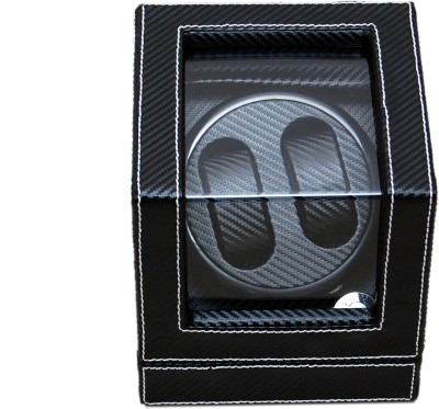 Medetai Mover Automatic 2 Watch Winder(Black PU, Carbon)