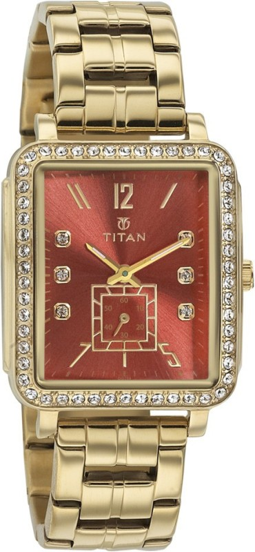 Titan 95042YM01J Analog Watch For Women
