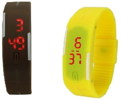 Lime yellow-brownbandwatchesM Digital Watch  - For Men