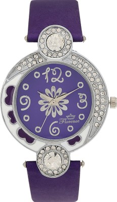Florence F-PUR-SLV-072 Analog Watch  - For Women