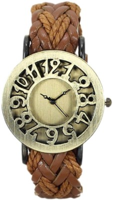 Srushti Art Jewelry Trendy_LightBrown_Vintage_Leather1 Analog Watch  - For Women, Girls