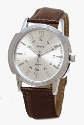 Lamex 3501 Silver And Coffee Analog Watch  - For Men