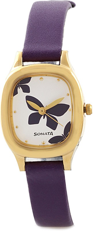 Sonata NG8060YL01C Yuva Gold Analog Watch For Women