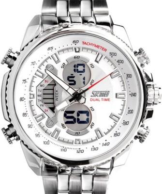 Skmei AJAD0993-WHT Lcd Analog-Digital Watch - For Men