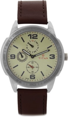 Titan 1585SL05 Purple Analog Watch - For Men