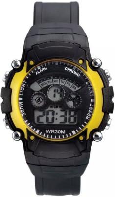 Hari Krishna Enterprise 1hk 7Light Yellow Digital Watch  - For Boys, Men