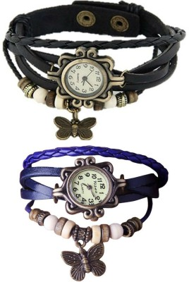 Frenzy vintage-butterfiy-blue-black-combo Analog Watch  - For Girls, Women