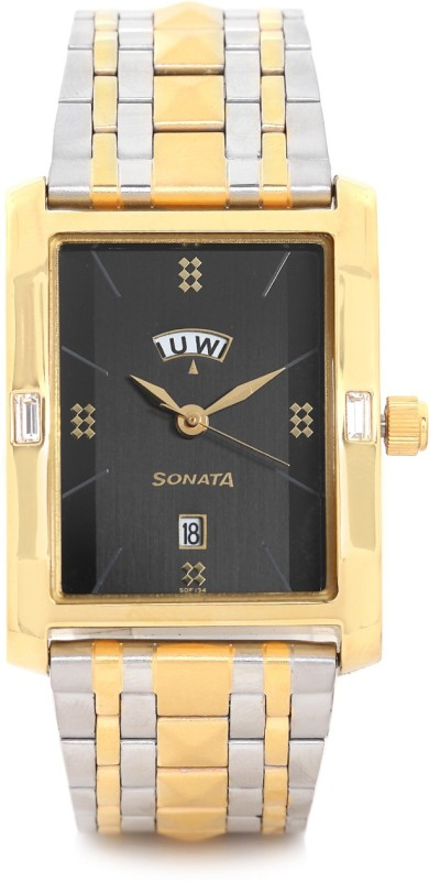 Sonata 7115BM01 Analog Watch For Men