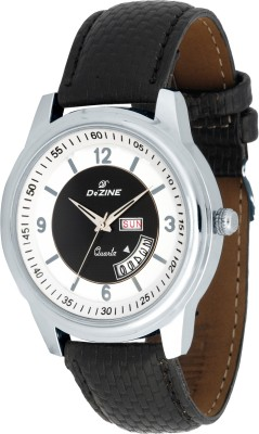 Dezine DAY AND DATE DISPLAY -GR302WHT Analog Watch  - For Men