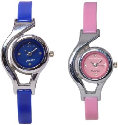Hari Krishna Enterprise Glory Blue & Pink Analog Watch  - For Women, Girls
