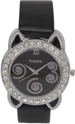 TOREK TOREK BLACK STRAP DESIGNER WOMENS ANALOG WRIST WATCH FOR GIRLS,WOMEN Analog Watch  - For Women