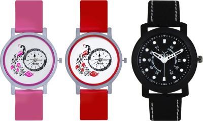 Frida Designer VOLGA Beautiful New Branded Type Watches Men and Women Combo601 VOLGA Band Analog Watch  - For Couple