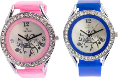 Perucci Pc-2222combo-2B,P Advika Analog Watch  - For Women