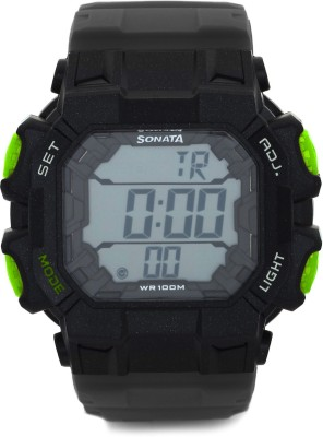 Sonata NH77025PP01 Superfibre Digital Watch - For Men