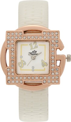 Florence FL-WHT-GLD-F-071 Analog Watch  - For Women