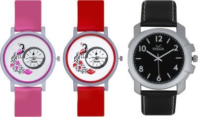 Frida Designer VOLGA Beautiful New Branded Type Watches Men and Women Combo621 VOLGA Band Analog Watch  - For Couple
