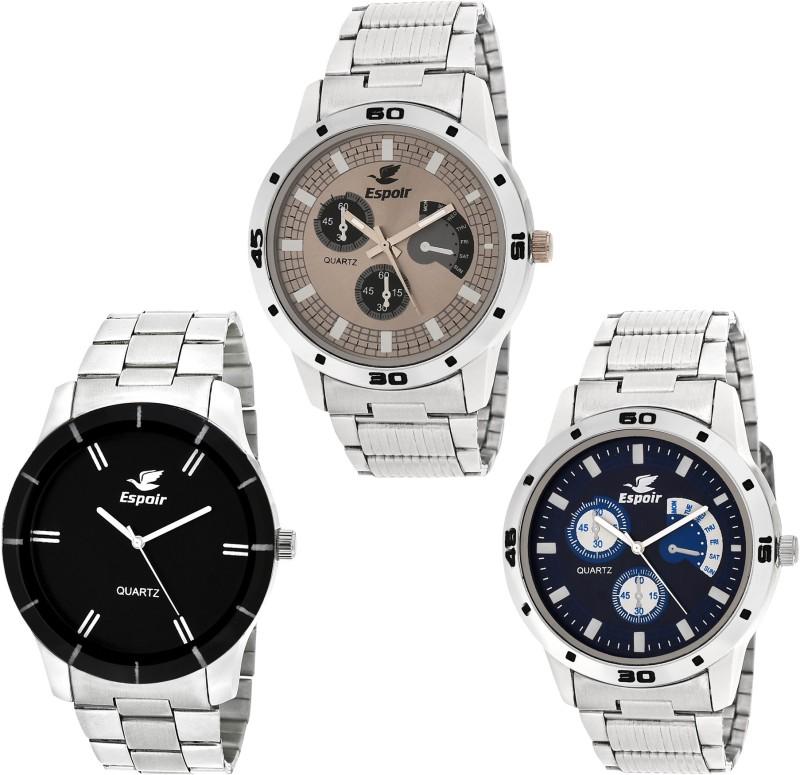 Espoir Combo Espoir ES109P Bahu Chronograph Pattern Analog Watch