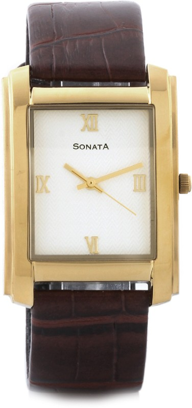 Sonata NF7953YL01 Analog Watch For Men