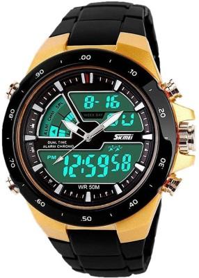 DSC Skmei 1016-G Chronograph Analog- Analog-Digital Watch  - For Boys, Men