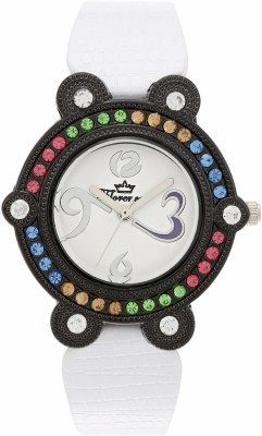 Florence FL-WHT-BLK-F-073 Analog Watch  - For Women