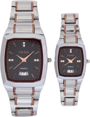 Faleda P6157TTB-DATE Standred Analog Watch  - For Couple