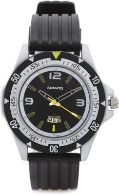 Sonata NH7930PP08 Superfibre Analog Watch  - For Men