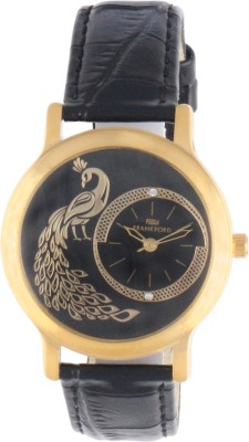 Frankford Ffls-13 Gold Pecock Fashion Analog Watch  - For Women