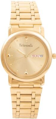 Telesonic RGD-02 Shubham Gold Tone Analog Watch  - For Men, Women