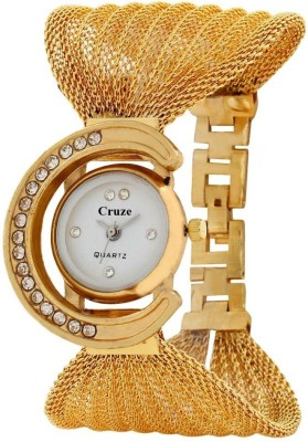 Cruze Diamond Stud Analog Watch - For Girls, Women