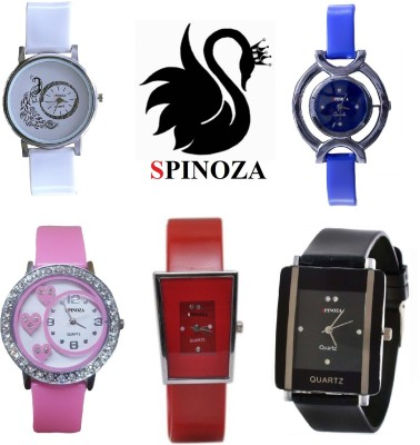 SPINOZA glory peacock multicolor beautiful stylish pack of 5 watches Analog Watch  - For Women