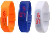 intricate Led Band Watch Combo of 3 Oran...