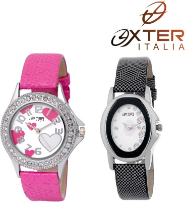 OXTER Lovely Pink and Smart Black Fancy Indian Collection Analog Watch  - For Women