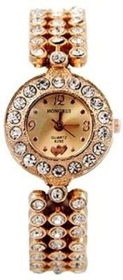Pappi Boss Designer Party Wear Formal Shining Full Diamond Crystals Bracelet Analog Watch  - For Girls, Women
