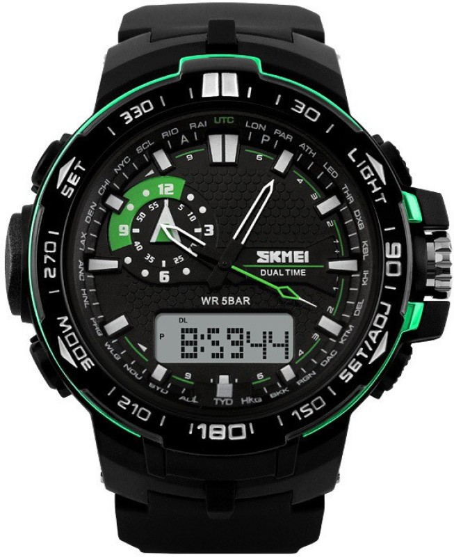 Skmei AJAD1081 BBU Lcd Analog Digital Watch For Men