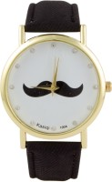 COSMIC Moustache Unisex Analog Wrist Watch black Strap Analog Wa
