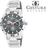 Gesture 6329 Grey Elegant Attractive Analog Watch For Men