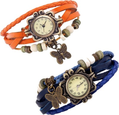 LegendDeal Combo of 2 VB-310 Vintage Butterfly Analog Watch  - For Girls, Women