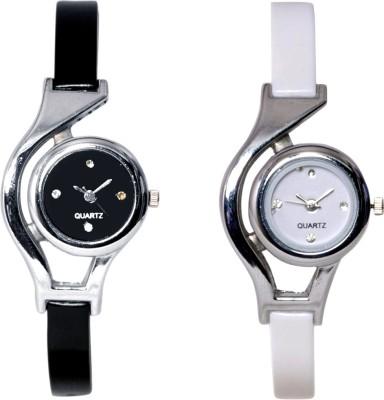 Fancy Glory Black & White Combo-2 Analog Watch  - For Girls, Women