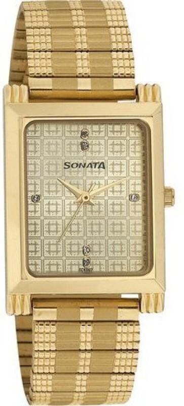 Sonata 77036YM02CJ Analog Watch For Men