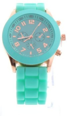 Zillion Candy Mint Green Silicone Strap Analog Watch  - For Girls, Women