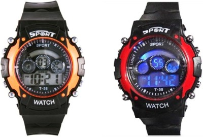 Crazeis WT-MCCH2OR-RD-C Digital Watch  - For Boys