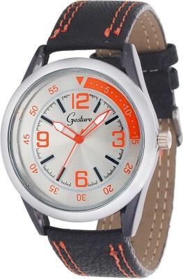 Gesture Gesture 5033-SL-OR Men's Watch Modest Analog Watch  - For Men