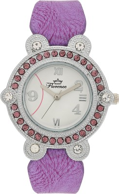 Florence FL-PUR-SLV-F-073 Analog Watch  - For Women