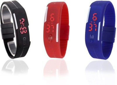 Style Feathers Combo Led Digital Watch  - For Men