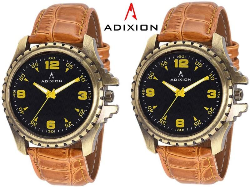ADIXION 133GL0101 New Tan Colour Leather Strap Antique Bezel watc