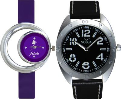 Frida Designer VOLGA Beautiful New Branded Type Watches Men and Women Combo136 VOLGA Band Analog Watch  - For Couple