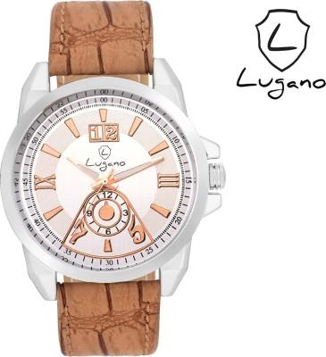 Lugano DE10510 Analog Watch  - For Men, Boys