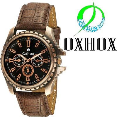 Oxhox G35A ChronoGraph Pattern Analog Watch  - For Boys, Men